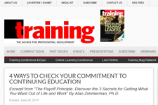 Dr. Z in the Training Magazine