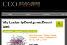 Dr. Z on the CEO Magazine
