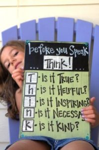 Think Before You Speak and more tips for effective communication