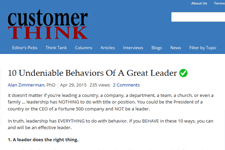 Dr. Z on CustomerThink