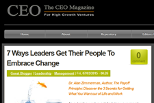 Dr. Z in The CEO Magazine