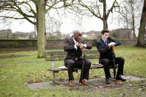2 man watching time